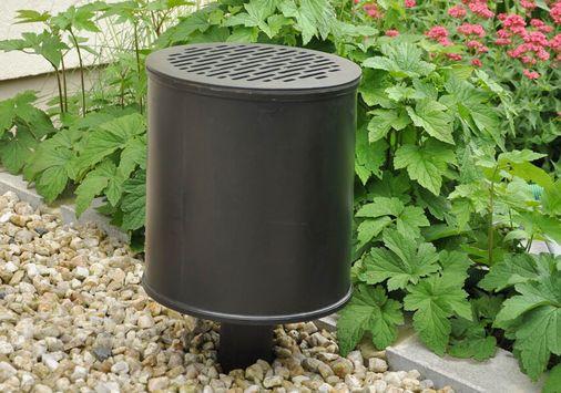UGN-Aufsatzfilter zweiteilige Filterkonstruktion aus Kunststoff, Schadstoff- und Geruchsfilter zum Aufsetzen auf Belüftungskamine, Entlüftungskamine, Brunnenabdeckungen, Tanks